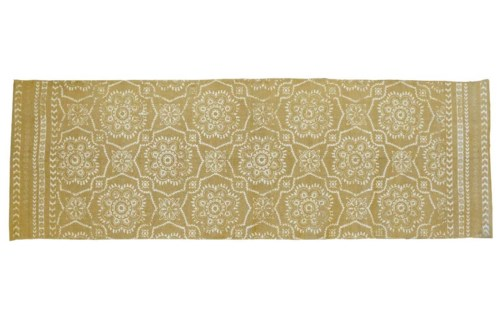 A54101090. Rug 180X60Cm Beige Cotton 70.9x23.6xinch. (units/inner:4. units/outer12)*last Chance* - O