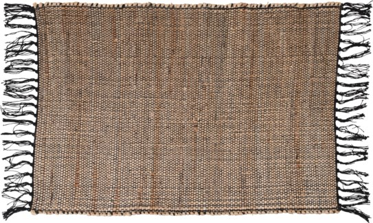 A35831030-Lenor Rug, S, Black/Jute, 24x36 in