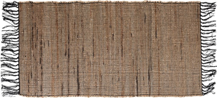 A35831040-Lenor Rug, M, Black/Jute, 28x55 in