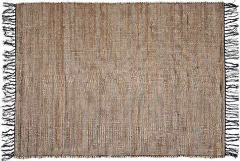 A35831050-Lenor Rug, L, Black/Jute, 48x71 in