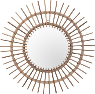 J11500300 - Kubu Sun Shape Mirror, 35.5 inches  diametre FD - ON SALE 30 percent off original price