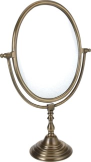 A44710290. Standing Mirror 75x46x22cm. Alumn., Antq Brass Plated. 40 percent off original price