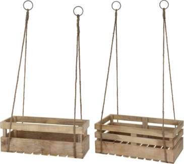 A44710990 - Hanging Crate, Mango wood, Set/2