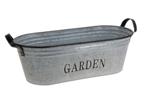 C37565270-Zinc Oval Garden Tub, 21x9x7 inches - ON SALE 30 percent off original price 25.95