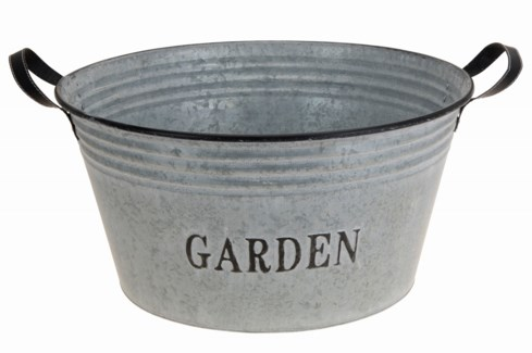 C37565370-Zinc Round GardenTub, 18.5x18.5x9.5 inches - ON SALE 30 percent off original price 34