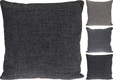 NB3002040-Grey Scale Cushion, L,  3/Asst, Polyester, 22.4 in