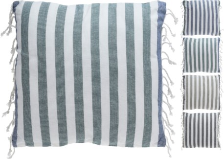 A35821030-Breton Stripe Cushion 4/Asst, Cotton, 18 in