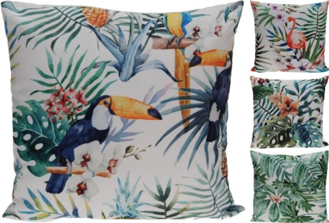 HZ1006130-Tropicana Cushion, 4/Asst, Polyester, 18 in