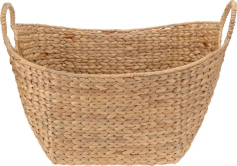 449000100. Oval Basket 58x40x28cm. Willow Rattan Wire Frame. (units/inner:3units/outer:6) - ON SALE