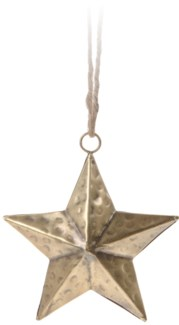 A54104040. Hanging Star 15Cm Gold Metal 5.9x1.2x5.9inch. (units/inner:6. units/outer24) *LAST CHANCE