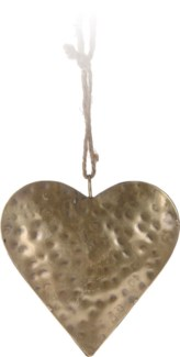 A54104000. Heart Hangdeco 10Cm Gold Metal 3.9x3.9x0.8inch. (units/inner:12. units/outer48)