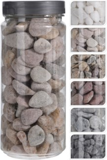 HZ1930090-Decoration Stones 6/Asst, Natural 2.6x2.6x6.1 in 750 Gr