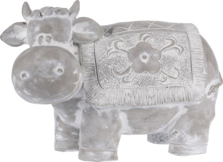 252730910 - Cement Cow, 15x7.8x10 inches - ON SALE 25 percent off original price 29.99