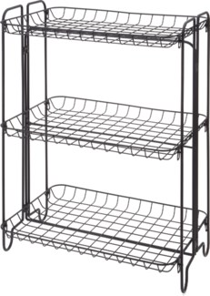 HX9000510 -  Shelf Rack 3 Tiers Metal, Black, 19x12x25 inches - ON SALE 50 percent off original pri