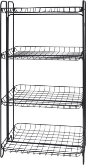 HX9000520 -  Shelf Rack 4 Tiers Metal, Black, 19x12x36 inches - ON SALE 50 percent off original pri