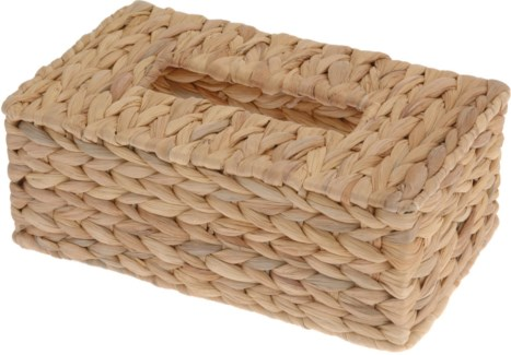 449000390. Tissue Holder Willow Rattan 25x15x9cm. Elastic Band. (units/inner:16units/outer:16)