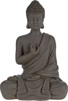 252888400-Cement Sitting Buddha, S, 8x5x12 inches  FD