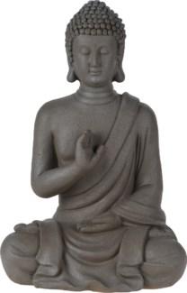 252888410-Cement Sitting Buddha, L, 10.5x7x16 inches