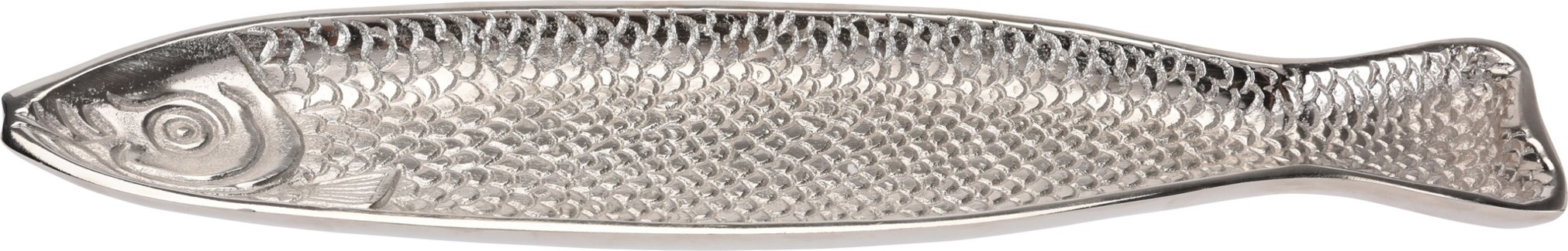 A44321200-Decorative Fish Long Plate, M, Aluminum, 17.3x4x.6 in *Not Suitable For Direct Food Conta