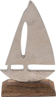 A44321500-Boat Statue, S, Aluminium, 4x2x6 in