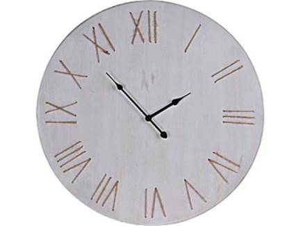 HZ1901660 Minimalist Clock, White Washed, 23.5  D