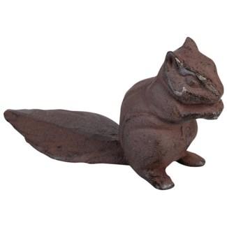 Doorwedge squirrel. Cast iron. 18,0x6,2x10,0cm. oq/12,mc/24 Pg.48