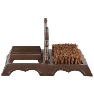 Boot brush with scraper. Cast iron, coconut fibre. 27,2x22,0x14,4cm. oq/4,mc/8 Pg.46