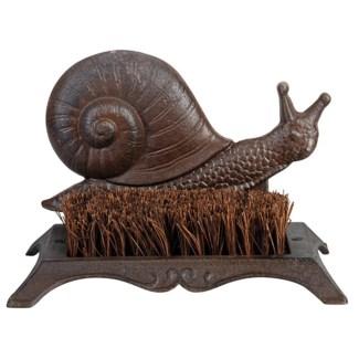 Bootscraper snail. Cast iron, coconut fibre. 25,3x15,8x16,0cm. oq/8,mc/8 Pg.46