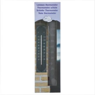 Slate thermometer classic. Slate, glass, kerosine. 10,0x0,6x45,0cm. oq/6,mc/18 Pg.96