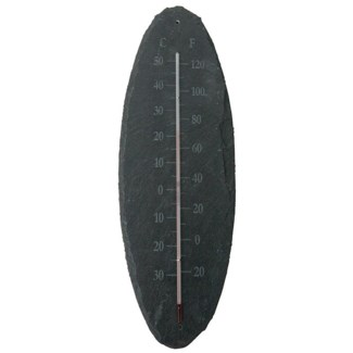 Slate thermometer oval L. Slate, glass, kerosine. 13,0x0,8x40,0cm. oq/6,mc/18 Pg.96