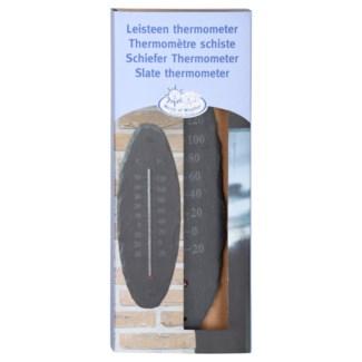 Slate thermometer oval S. Slate, glass, kerosine. 10,0x0,4x30,0cm. oq/6,mc/36 Pg.96