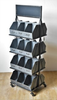 Rustic Metal 24 Cubby Displayer *50% off with $750 order of Hardware*