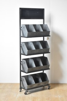 Rustic Metal 12 Cubby Displayer *50% off with $750 order of Hardware*