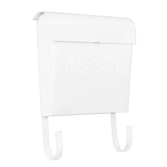 Euro Post Mailbox, White, 11 x 4.5 x 12 in