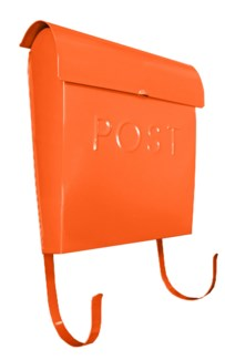 Euro Post Mailbox, Orange, 11 x 4.5 x 12 in