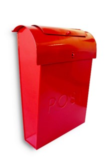 Emily POST Mailbox Red Lid access. 10.6x3.9x13.9inch. On Sale 35% off original price of $35.00