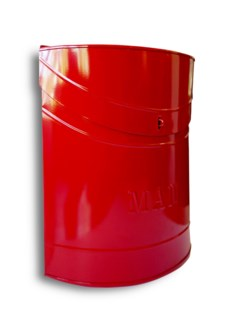 Kinley MAIL Mailbox Red Lid access. 11.4x4.52x13.9