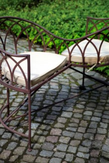 Lovers bench metal. Metal. 114,5x73,0x79,0cm. oq/1,mc/1 Pg.109  *Cushions not included