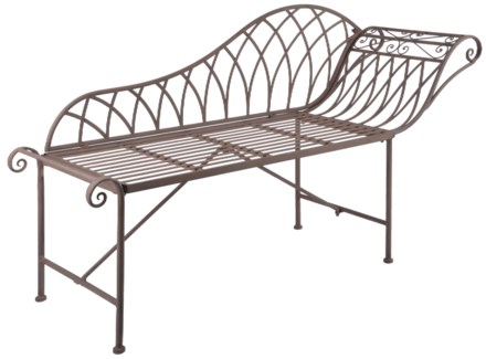 Chaise longue metal. Metal. 156,0x49,5x85,9cm. oq/1,mc/1 Pg.109    *Cushions not included