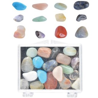 Minerals polished/mixed in box. Real minerals. 5,6x5,3x2,1cm. oq/48,mc/192