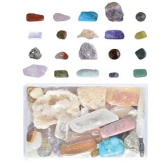 Minerals mixed in box M. Real minerals. 5,1x8,1x3,3cm. oq/24,mc/48