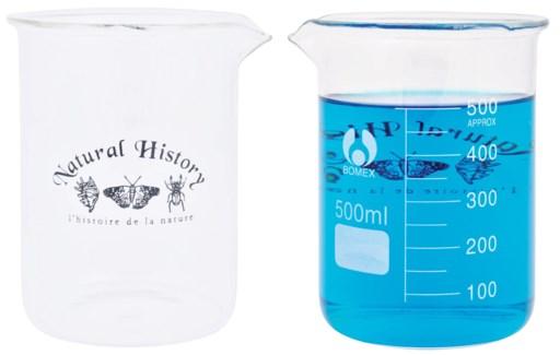 Beaker 500 ml. Glass. 10,2x9,6x12,4cm. oq/6,mc/72 Pg.104