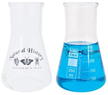 Erlenmeyer 300 ml. Glass. 8,8x8,8x15,8cm. oq/6,mc/48 Pg.104