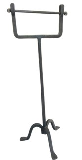 Standing Toilet Roll Holder Handforged Iron Oil Rubbed Black 22.5x7.5inch
