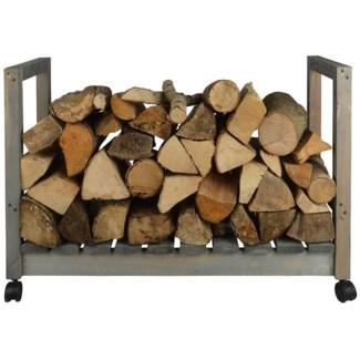 Wood storage on wheels - 33.25x12x22 inches