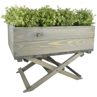 Planter on foldable stand - 23x15.25x18.25 inches