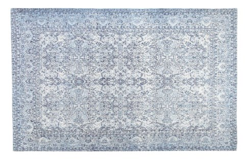 Greece Blue Carpet, 4x6 , 100 % Cotton, machine woven, 200gm/sqf India