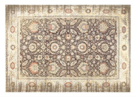 Warm Grey Carpet, 4x6  100 % Cotton, machine woven, 200gm/sqf India