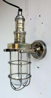 Pippa Wall Lamp. Brass with Antique Silver Finish. 7x5.2x13.8inch ON SALE