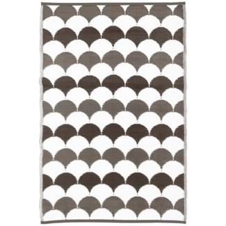 Garden carpet graphics grey/white - 48x71x0.5 inches